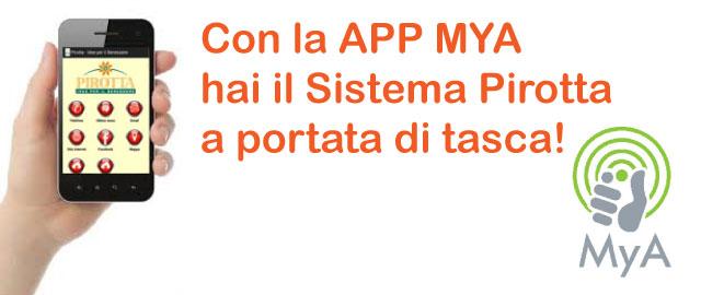 Con MYA hai Pirotta sul tuo smartphone